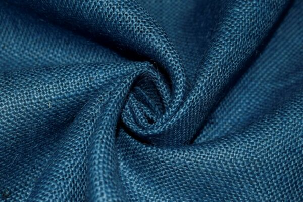 "Burlap Fabric Jute Medium Blue 11 Oz By The Yard 56"" W Table Runner Upholstery"