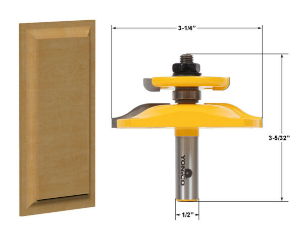 3 1 4quot; Ogee Raised Panel with Backcutter Router Bit 1 2quot; Shank Yonico 12143 $26.95