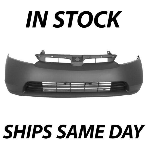 NEW Primered Front Bumper Cover Fascia for 2006 2007 2008 Honda Civic 1.8 Sedan