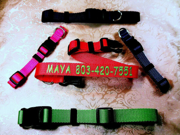 Personalized Embroidered Adjustable Dog Collars 1