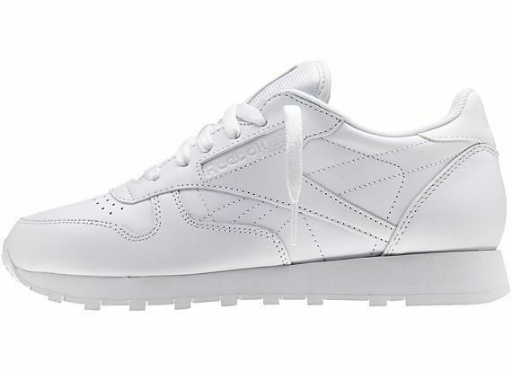 Reebok Mens Classic Leather Sneaker Casual Shoes White New Sizes 6.5 - 13