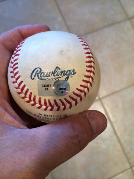 BRYCE HARPER GAME USED DOUBLE-2012-1ST MULTI HIT GAME1ST RUN1ST HOME RBI