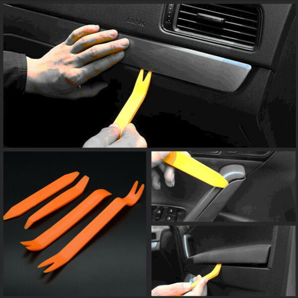 4x Car Door Trim Panel Clip Lights Radio Audio Removal Pry Open Tool Kit for BMW