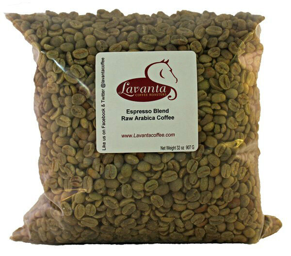 LAVANTA COFFEE GREEN ESPRESSO BLEND TWO POUND PACKAGE
