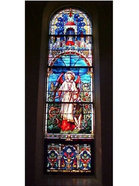 + Beautiful 9 window set of Church Stained Glass Windows + Shipping Available