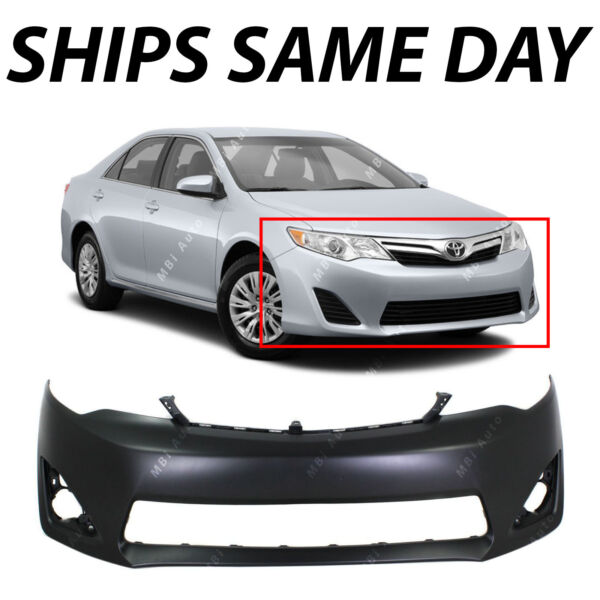 Primered Front Bumper Cover Fascia for 2012 2014 Toyota Camry XLE L E 12 14 $92.42