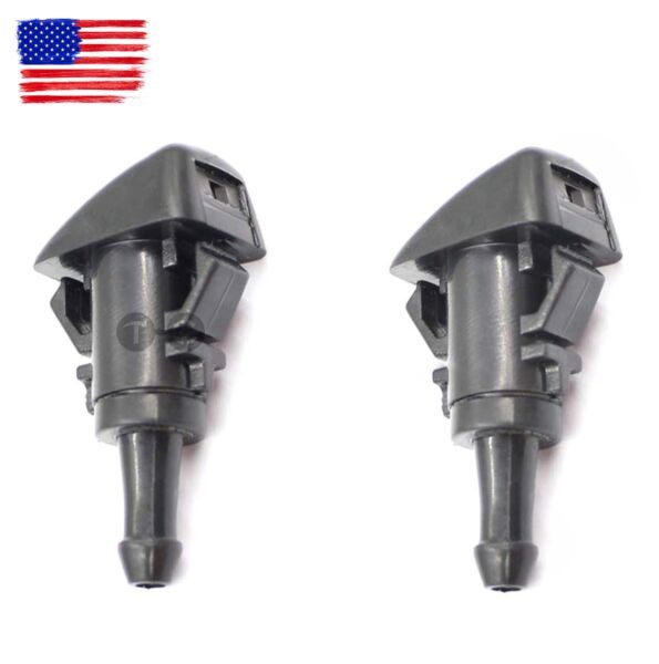 2 pcs Single Hole Windshield Wiper Washer Nozzle For Avenger Journey PT Cruiser