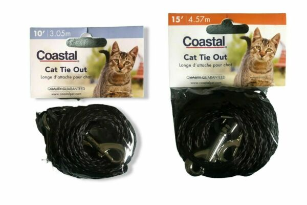 Coastal Poly Cat Tie Out Black Free Shipping