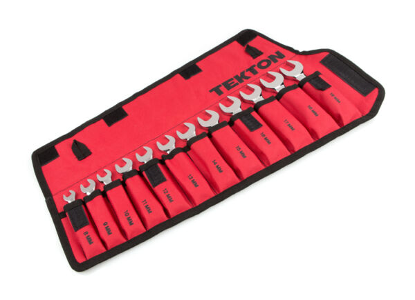 Tekton 12-pc. Stubby Combination Wrench Set - Pouch (8-19 mm)