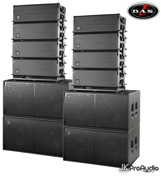 DAS D.A.S. EVENT-208A  218A Complete Powered line array system w Subwoofers
