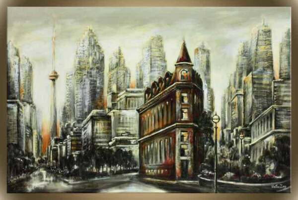 Victor Zag - Ironworks - Cityscape painting - Giclee Reproduction 30