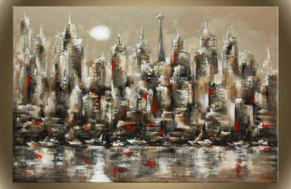 Victor Zag - Tronto Sunset - Cityscape painting - Giclee Reproduction 30