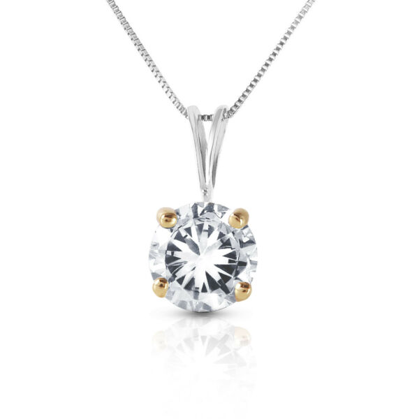 0.5 CTW 14K Solid White gold fine Be Counted Diamond Necklace 16-24