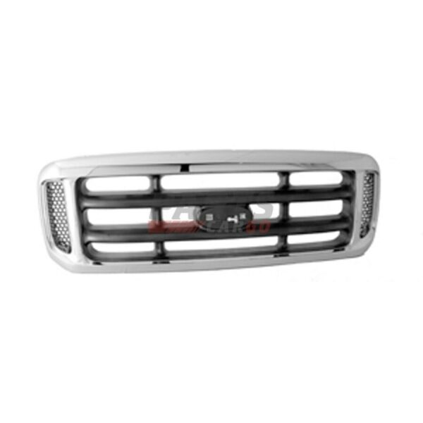 1C3Z8200BAA Front Grille Chrome With Black Fits 1999-2004 Ford F-250 Super Duty