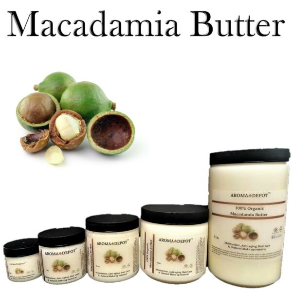 Macadamia Butter Pure Organic Fresh Cold Pressed Natural Anti-aging Body