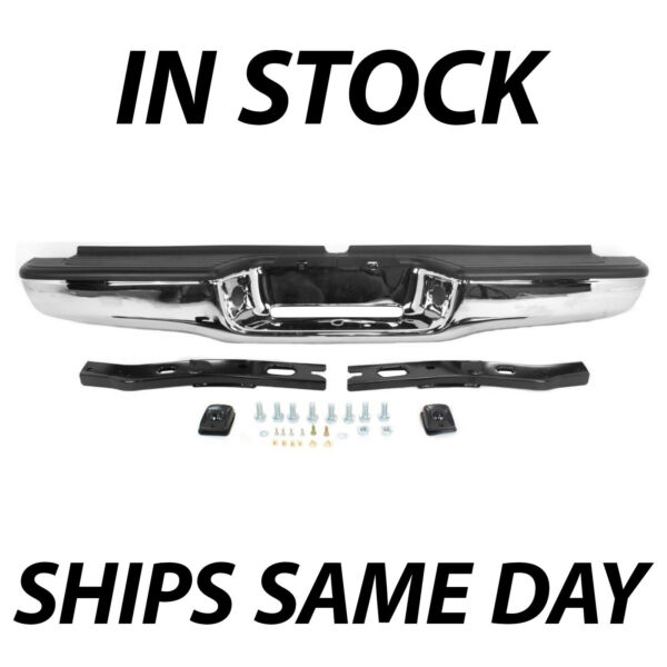 NEW Chrome Complete Rear Steel Bumper Assembly for 1995 2004 Toyota Tacoma