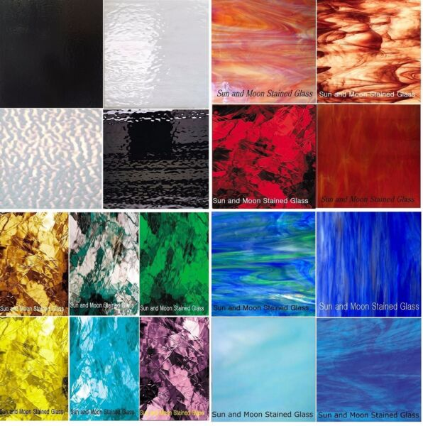 Stained Glass sheets Spectrum amp; Wissmach All Glass Variety packs Free Shipping $49.95