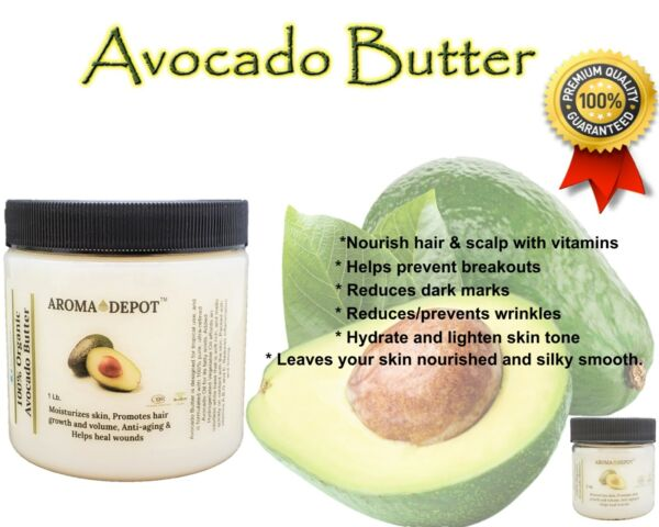 Avocado Butter Natural Organic Kosher Skin Face Body Hair 100% Raw High Quality