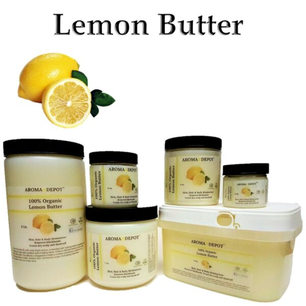 Lemon Butter Organic Cold Pressed Premium Quality 2 oz 4 oz 8 oz 1 lb 3 lb Lot