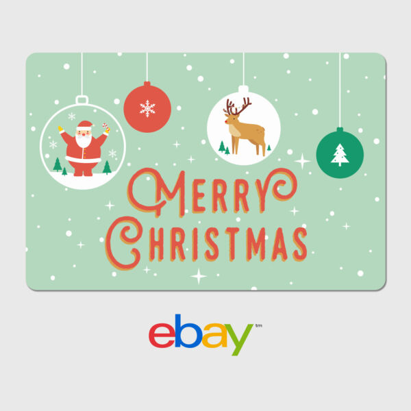 eBay Digital Gift Card - Holiday Designs - Email Delivery