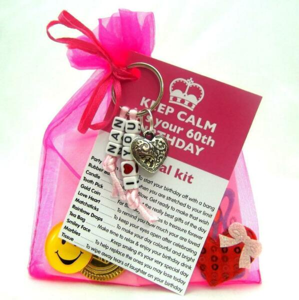 PERSONALISED 30th 35th 40th BIRTHDAY PRESENT SURVIVAL KIT GIFT KEYRING KEEPSAKE