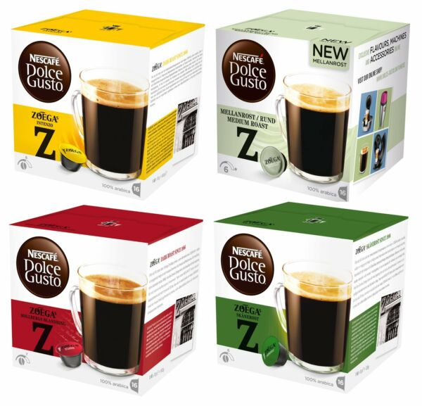3 Boxes x Dolce Gusto Nescafe Coffee Capsules 16 Pods  Box All Flavours