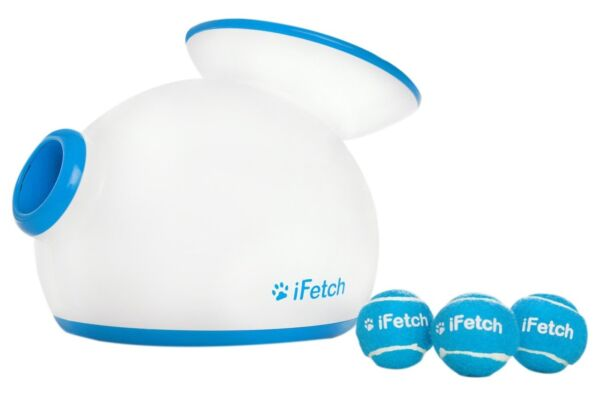 iFetch Interactive Ball Thrower for Dogs- Launches Mini Tennis Balls Small