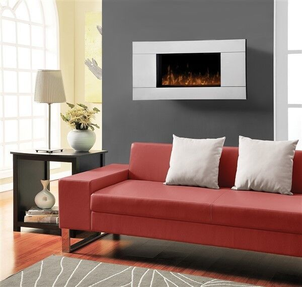 DWF24A 1329 Dimplex Glass Front Reflections Wall Mount Electric Fireplace 24quot;