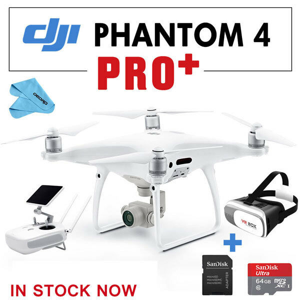 DJI Phantom 4 Pro + ,RC with Bult in Screen Camera Drone QuadCopter,3D VR,64G SD