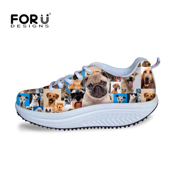 Womens Funky Animal High Platform Shoes Sneakers Shape Ups Toning Wedge Shoes