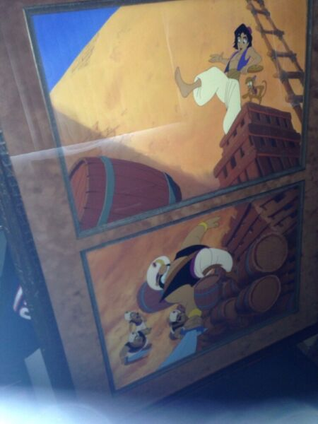 2 Aladdin Production Background auctioned at Sotheby's Lot in Sequence