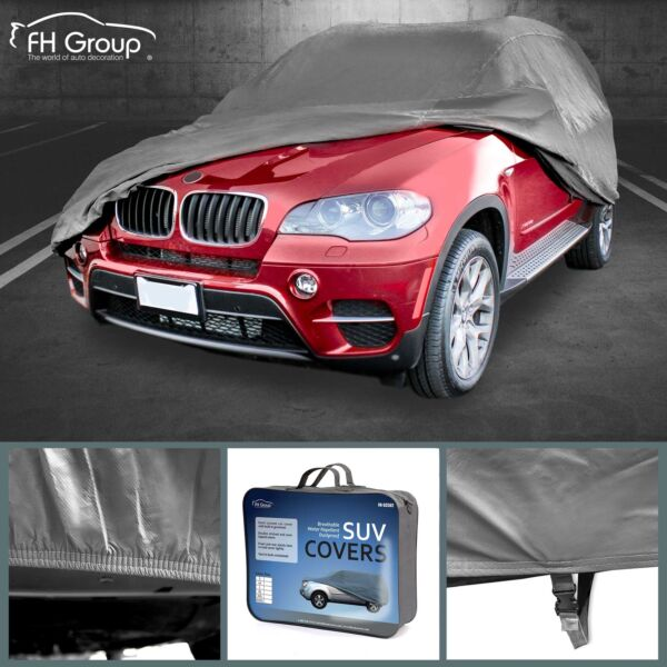 Car Cover Water Resistant Breathable UV Snow Heat Dust Rain Resistant Large