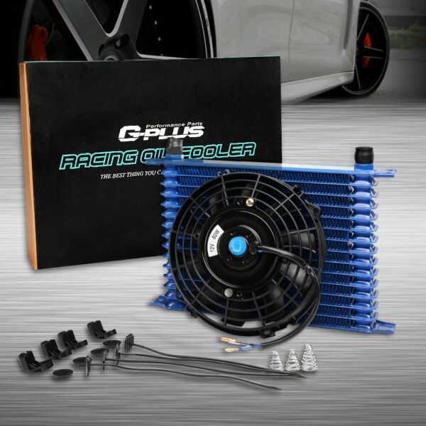 15 Row 10AN Universal Engine Transmission Oil Cooler + 7