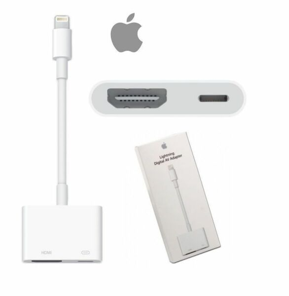 Lightning Digital AV Adapter to HDMI Port iPhone iPad MD826AM/A NEW
