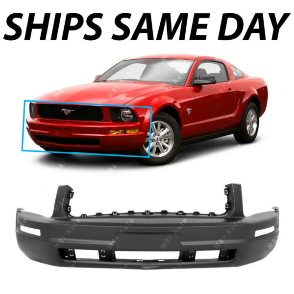 NEW Primered Front Bumper Cover Replacement for 2005 2009 Ford Mustang Base $88.83
