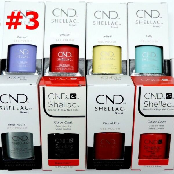 CND Shellac GelColor Nail Polish Base Top Brand New Gel Color #3 - Choose Any
