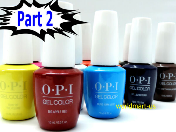 SALE!!! OPI GelColor UVLED Gel Nail Polish 15ml.5oz Choose Any Colour Part 2