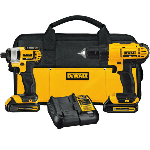 DEWALT 20V MAX Cordless Li-Ion 2-Tool Combo Kit DCK240C2 New