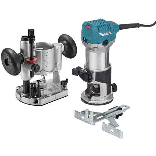 Makita 1 1 4 HP Slim amp; Compact Double Insulated Router Kit RT0701CX7 New