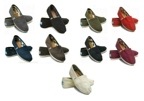 100% AUTHENTIC TOMS CLASSIC WOMEN CANVAS SHOES BRAND NEW. ALL SIZES