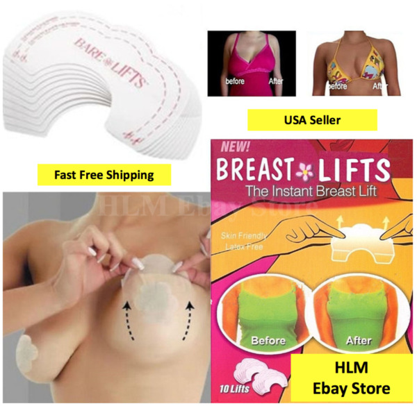 10-50pcs Lot Bare Lift Instant Breast Invisible Support Bra Shaper Push Up Tape