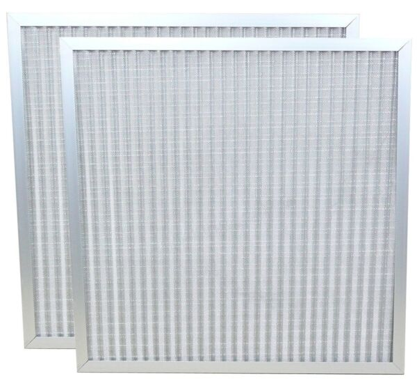 SET of 2 HOME FURNACE AC AIR FILTERS WASHABLE PERMANENT REUSABLE FOREVER ALLERGY