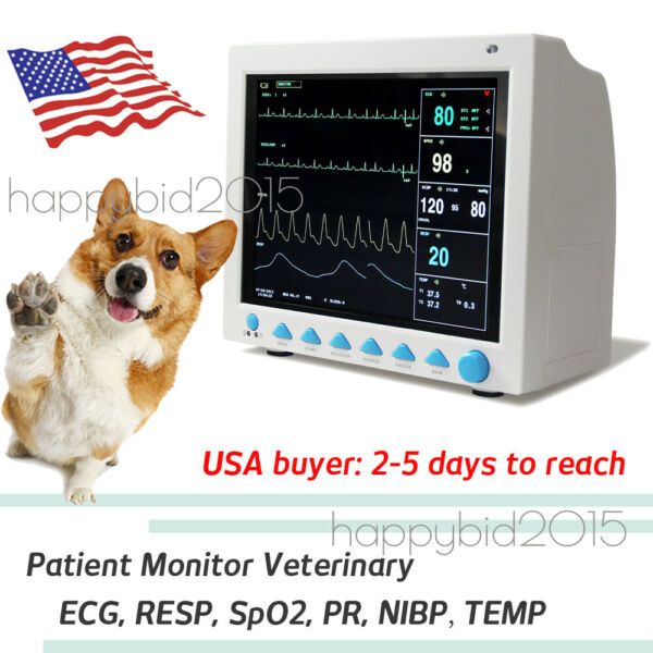 For VET ICUCCU Veterinary PATIENT MONITOR ECG EKG SPO2 PR NIBP 6-PARAMETERS