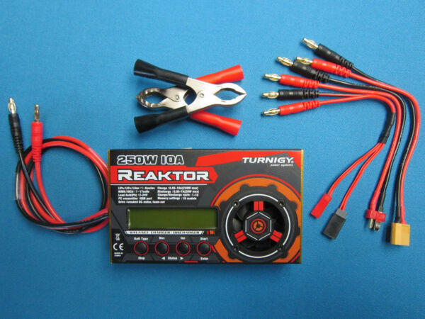 TURNIGY REAKTOR  250W 10A 1-6S BALANCE CHARGER & DISCHARGER LiPo LiFe NiXX DC RC