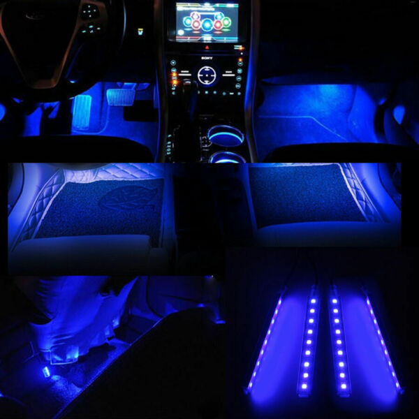 Universal Blue 9 LED Car SUV Accessories Floor Decorative Atmosphere Lamp Light