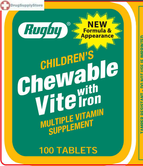 Rugby Childrens Vite with Iron Multivitamin and Multi mineral Supplement