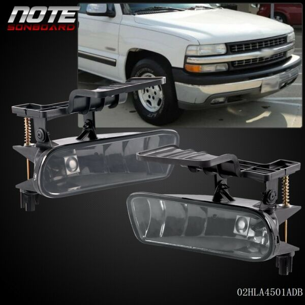 For 00-06 Chevy Suburban Tahoe  Bumper Fog Lights Driving Lamps Smoke
