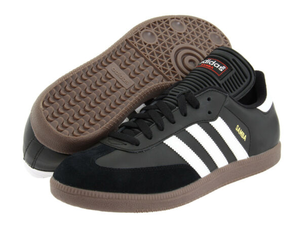 Mens Adidas Samba Classic Black Athletic Indoor Soccer Shoes 034563 Sz 6.5-13.5