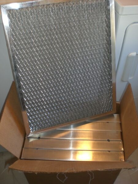 Lot of 6 American Air Filter 16x25x2 HVAC FURNACE Aluminum Central Air Filters