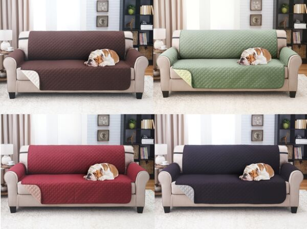 SLIPCOVER REVERSIBLE SOFA PET FURNITURE COUCH PROTECTOR COVER 1800 COUNT $24.99